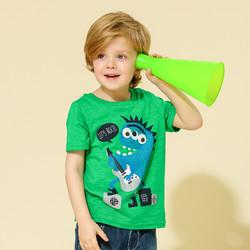 印象童年童装男童2019夏款小怪兽体恤儿童男童印花圆领套头短袖T恤 *3件