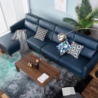 曲美 QM19-S5 科技布沙发 组合沙发+单背+右美人榻