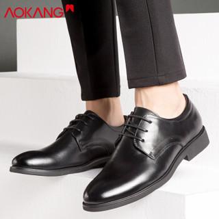 AOKANG 奥康 男士商务正装皮鞋 183210108  黑色 41码