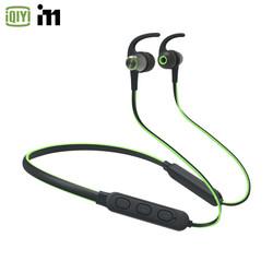 爱奇艺i71 蓝牙耳机 运动 颈挂脖式 跑步 双耳入耳 苹果 安卓 通用D160 黑绿