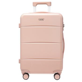 汉客(HANKE)万向飞机轮拉杆箱20英寸淡山茱萸粉磨砂自营行李箱皮箱男女箱包旅行箱子登机箱密码箱高颜值