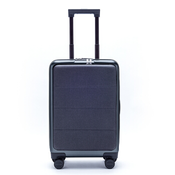 小米(MI)米家定制拉杆箱轻商务登机旅行箱20英寸双密码锁皮箱 男女万向轮登机90分行李箱 钛金灰 20英寸