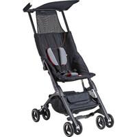 好孩子(gb)口袋车3代婴儿推车轻便折叠 宝宝推车伞车可登机便携式 黑色升级款加扶手加凉席