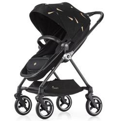 好孩子官方旗舰店gb金羽系列碳纤维婴儿推车360旋转轻便轻奢款 金羽黑色GB826A-R288BB