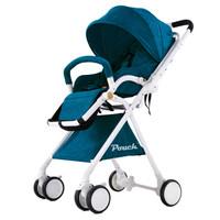 Pouch 帛琦 婴儿推车轻便携高景观可坐可躺避震伞车折叠宝宝婴儿车A06 墨绿