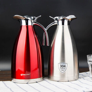 Tianxi 天喜 TBB101-2000 不锈钢真空热水壶保温瓶 欧式本色2.0L