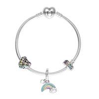 PANDORA 潘多拉 缤纷的爱彩色创意DIY串珠手链 送女友礼物 PDL0366-17