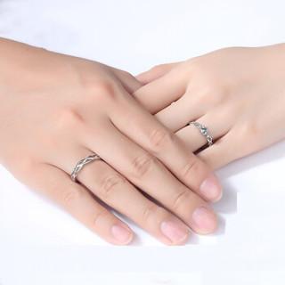 Dirholl 迪后 情侣戒指一对缠绵的爱s925日韩简约男女戒指学生百搭可调节大小开口刻字 缠绵的爱   一对    DH000