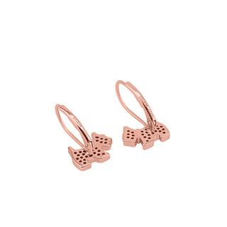AGATHA 232017C 新款 Scottie 925银玫瑰金小狗耳钉 耳环简约气质时尚 生日礼物首饰 玫瑰金