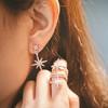 APM Monaco AE10596OX 不对称星星流星六芒星耳环气质时尚耳钉首饰百搭ins网红同款潮 银色不对称星星耳环