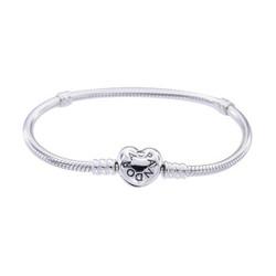 PANDORA 潘多拉 Moments 590719 心形扣银手链 +凑单品