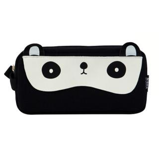 M&G 晨光 别咬我系列 APBN3675 黑色小熊猫大方形笔袋 *4件