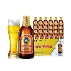 青岛啤酒(TSINGTAO) 小棕金 11度 296ml*24瓶 瓶装 整箱装(新老包装交替发货)