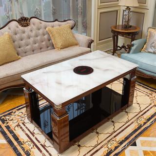 焱魔方 MF-SF-Q 取暖茶几取暖桌 138*80*58CM 大理石木纹