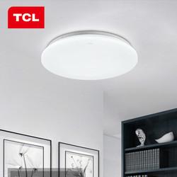 TCL照明 LED吸顶灯卧室灯客厅灯玄光过道灯现代简约阳台厨卫书房灯 翠华系列 翠华过道阳台灯Φ385m正白光24W