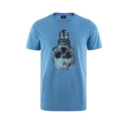 PS BY PAUL SMITH 男士灯泡骷髅头圆领短袖T恤(蓝色) *2件