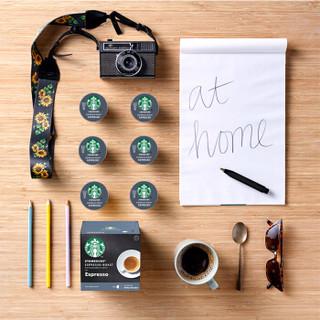 星巴克(Starbucks) 咖啡胶囊 意式浓缩黑咖啡 66g(雀巢多趣酷思咖啡机适用)