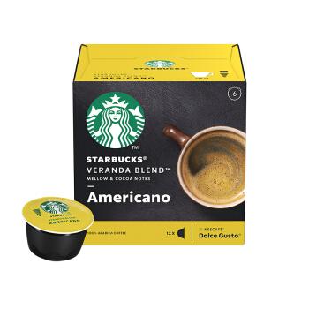 STARBUCKS 星巴克 咖啡胶囊 Veranda Blend(大杯) (102g、美式咖啡、盒装)