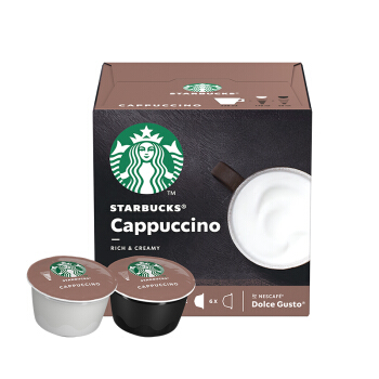 STARBUCKS 星巴克 咖啡胶囊 卡布奇诺花式咖啡 (120g、卡布奇诺、盒装)