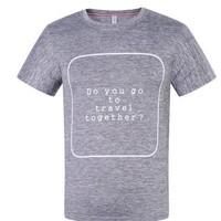 WB.wenabo 男士夏季运动短袖修身速干T恤