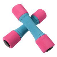 MIK 米客 哑铃女一对瘦臂健身器材家用小亚玲男士体育用品健身器械有氧健身1/1.5/2kg软哑铃 红蓝色 1kg*2        MK2016