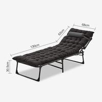 双鑫达 折叠床 躺椅单人床办公室午睡午休床陪护床 加宽至68cm 含加厚棉垫 B-27 (复合面料)