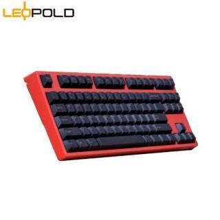 Leopold 利奥博德  FC750R PD二色成型 87键 机械键盘 Cherry红轴  赤红色