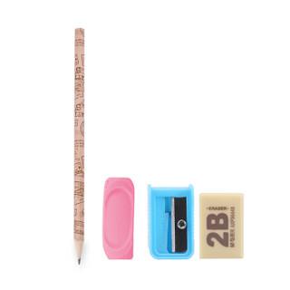 M&G 晨光 优握正姿铅笔套装(1支铅笔+1个粉色握笔器+1块橡皮+1个卷笔刀) *5件