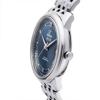 OMEGA 欧米茄 De Ville碟飞系列 424.10.40.20.03.002 男士自动机械手表 39.5mm 蓝色 银色 精钢