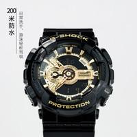 CASIO 卡西欧 男表g-shock漫威钢铁侠黑金运动手表GA-110GB潮流男士手表 GA-110GB-1A