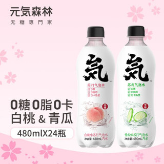 元気森林 无糖0脂肪气泡水 480ml*5瓶