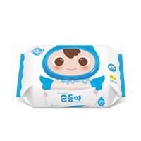 soondoongi 顺顺儿 蓝色无香系列 宝宝湿纸巾 20抽×10包