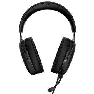 CORSAIR 美商海盗船 HS50 STEREO 黑色 环绕声 7.1声道耳机   有线版 HS50 STEREO (黑色、无线(蓝牙),有线、USB口)