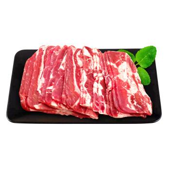 艾克拜尔 牛肉片 1kg/份 厚切肥牛片 4mm鲜肉卷切片培根 煎炒涮火锅烤肉食材 清真雪花牛肉生鲜 *2件