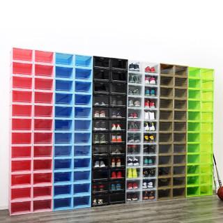 泛思 透明篮球鞋鞋盒 黑色8只装 (A型)