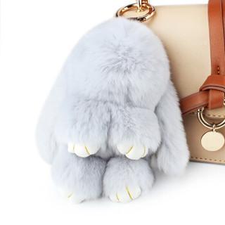 IDEA PIG 创意猪 兔子毛绒挂件 浅灰色-13cm