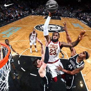 NIKE 耐克 勒布朗詹姆斯室内外水泥地7号篮球NIKE比赛橡胶篮球 詹姆斯黑色   NKI1204407 (黑色、7号)