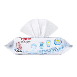 pigeon 贝亲 PL346/PL347 婴儿柔湿巾 宝宝湿巾组合装 屁屁清洁湿巾 PL347 100抽X6包 (20cm*13.5cm )