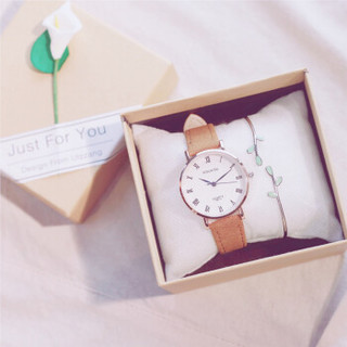 罗丽莎 毕业ins超火的生日礼物女生闺蜜diy韩国创意特别小清新实用少女心 咖带(送薄荷绿树枝手镯) 送文艺盒子+电池  0NYE820547226-街