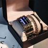 罗丽莎 男生友情实用创意礼物男朋友生日礼品个性diy韩国特别同学毕业礼 银色套装(两个手镯+手表) 送表盒+调表器  0NYS790103992-紫
