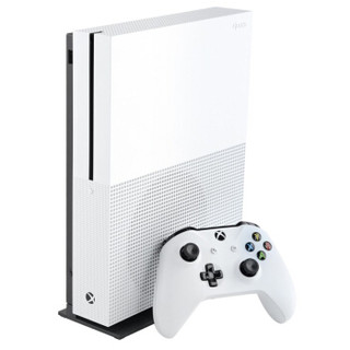 Microsoft 微软 Xbox One S 体感游戏机国行双人体感版+338款游戏 (白色、8GB)