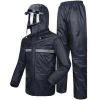 骑安 QA-1503 电动摩托车雨衣 藏青色 XXL