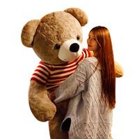 睿智熊 泰迪熊公仔玫瑰熊 1.8米 棕色