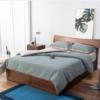 QM 曲美家居 北欧橡木双人床 原木色 1.8*2.0米框架床