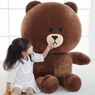 贝克蜜雪 娃娃大号布朗熊咖啡色 1米送30厘米