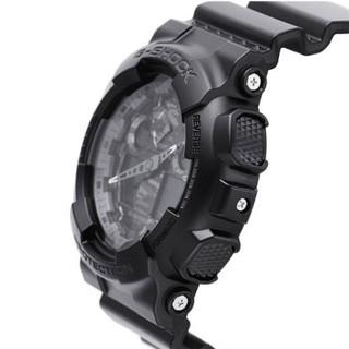 CASIO 卡西欧 手表 G-SHOCK大盘双显黑金多功能防水防震潮流运动男表 GA-100CF-1A