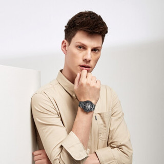 ROSSINI 罗西尼 手表勋章系列时尚潮流时尚镂空钢带自动机械表男士手表517793B04D 黑盘钢带男表42mm  517793