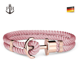 PAUL HEWITT 德国潮牌粉色手表女手链女式礼盒套装石英表皮带款粉色船锚手链送礼 粉色天生一对礼盒套装/S
