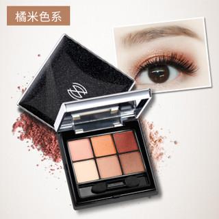 ZEESEA 六色眼影盘 姿色大地色哑光眼影盘学生 眼影笔彩妆盘 橘米色系 6970337532090