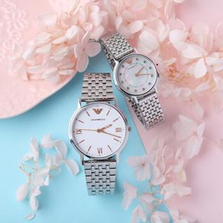 EMPORIO ARMANI 阿玛尼手表时尚潮流钢带男女石英情侣表 AR80014